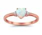 Blue Apple Co. White Opal Heart Ring
