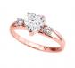Modern Contemporary Rings White Topaz Heart Ring