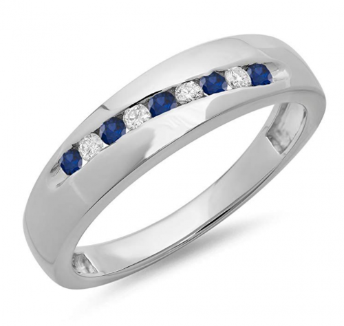 Dazzlingrock Collection Sapphire Band - Unisex