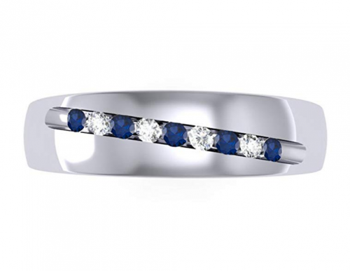 Dazzlingrock Collection Sapphire Band Horizontal View