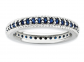 Black Bow Jewelry & Co. Created Sapphire Eternity Ring