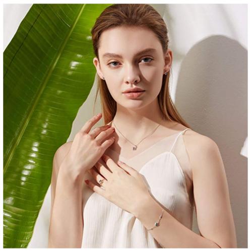 Carleen London Blue Topaz Necklace on Model