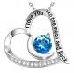 ELDA & CO. Swiss Blue Topaz Necklace