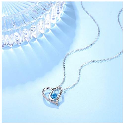 ELDA & CO. Swiss Blue Topaz Necklace on Display