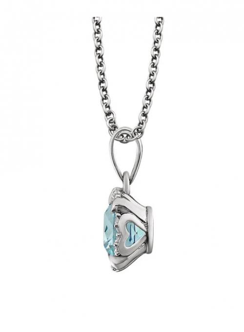 Black Bow Jewelry & Co. Diamond & Blue Topaz Necklace Profile