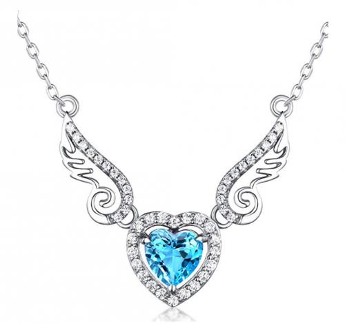 HXZZ Fine Jewelry Angel Wings Pendant Necklace