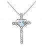GemStar USA Cross Heart Pendant Necklace