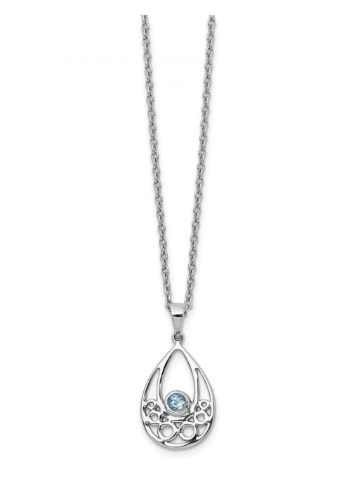 Black Bow Jewelry & Co. Blue Topaz Teardrop Necklace