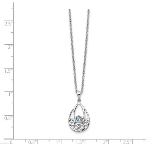 Black Bow Jewelry & Co. Blue Topaz Teardrop Necklace Size