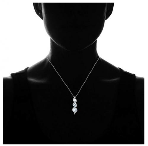 Ice Gems Three-Stone Journey Necklace on Display