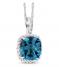 Gem Stone King London Blue Topaz Necklace