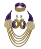Africanbeads Purple and Gold Jewelry Set