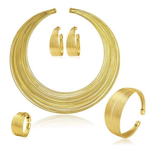 MOOCHI Gold Plated African Strands Choker Set