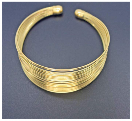 MOOCHI Gold Plated African Strands Choker Set on Display