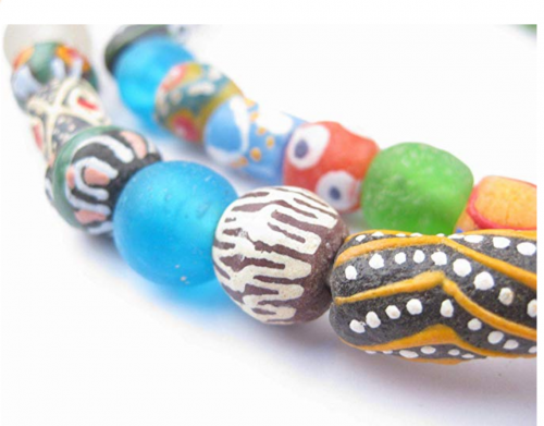 TheBeadChest Painted African Necklace Detail