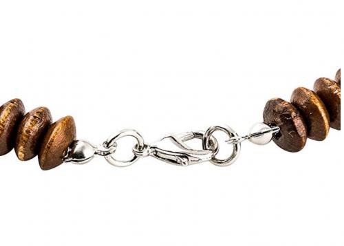 EVBEA Unisex Wood African Necklace Detail