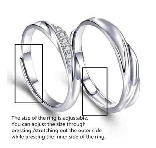 Sassu Fine Adjustable Couple Rings Detail