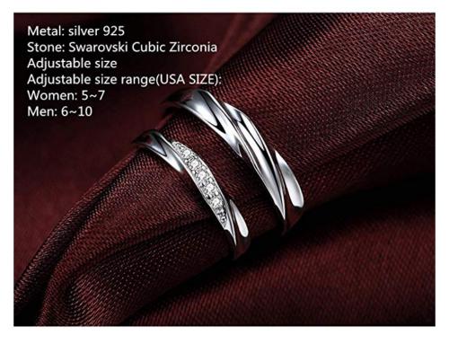 Sassu Fine Adjustable Couple Rings Size