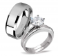 MABELLA Stainless Steel Ring Set