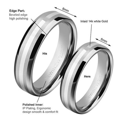 HEWINZW Tungsten Rings Details