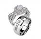 FlameReflection Couple Ring Set
