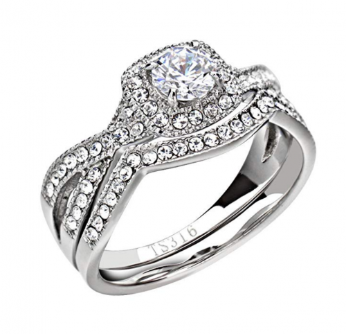 FlameReflection Couple Ring Set - Hers