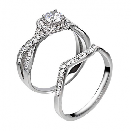 FlameReflection Couple Ring Set - Hers 2