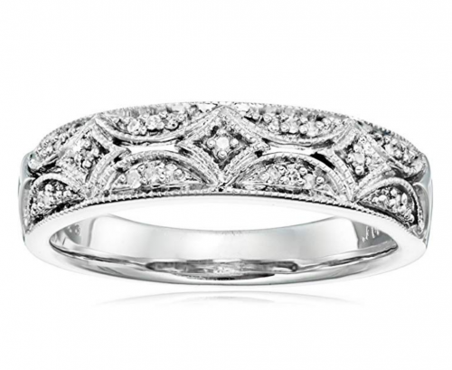 Amazon Collection Sterling Silver Anniversary Ring