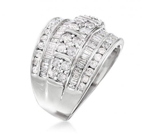 Ross-Simons Diamond Multi-Row Ring Profile