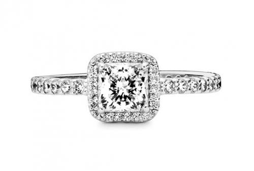 Pandora Jewelry Halo Anniversary Ring Front View