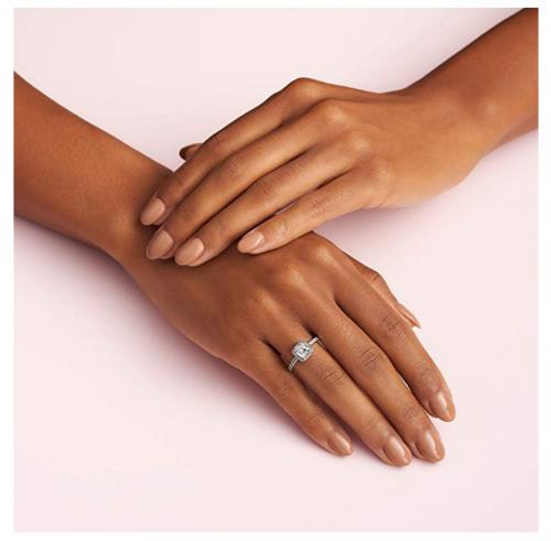 Pandora Jewelry Halo Anniversary Ring on Hand View