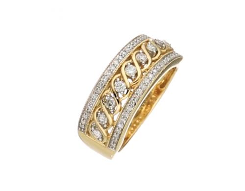 Jewelili 10kt Yellow Gold Anniversary Ring 2
