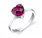 Ruby & Oscar Heart Shaped Ruby Ring