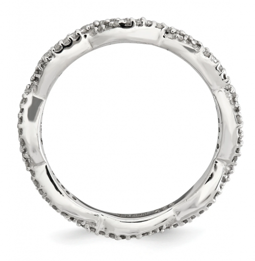 Black Bow Jewelry & Co. Diamond Twisted Band Profile
