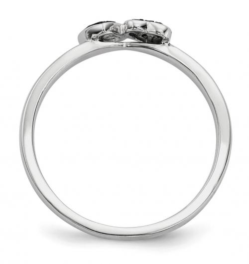 Black Bow Jewelry & Co. Black Diamond Double Heart Ring Profile