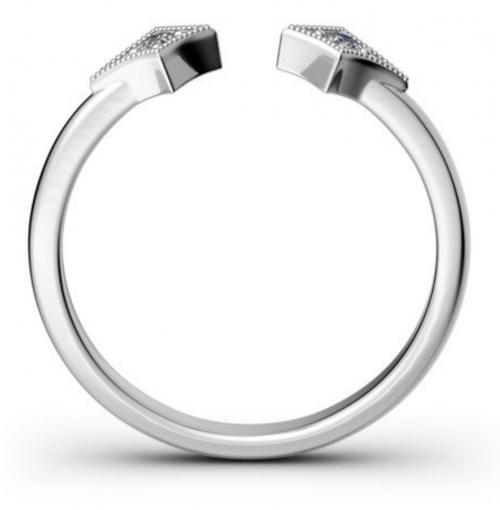 Jeulia Rhombus Open Ring Profile