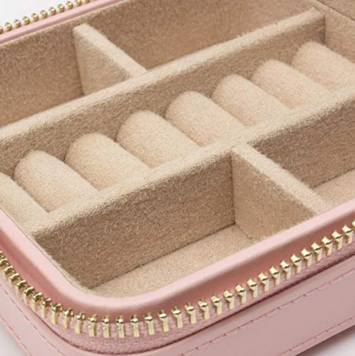 WOLF 329915 Caroline Zip Jewelry Travel Case Materials