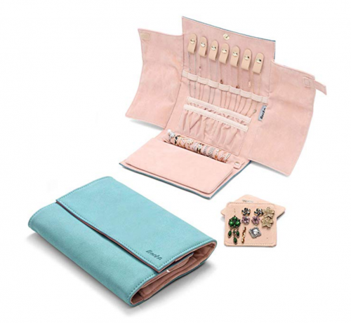 Becko Jewelry Roll Travel Bag Details 2