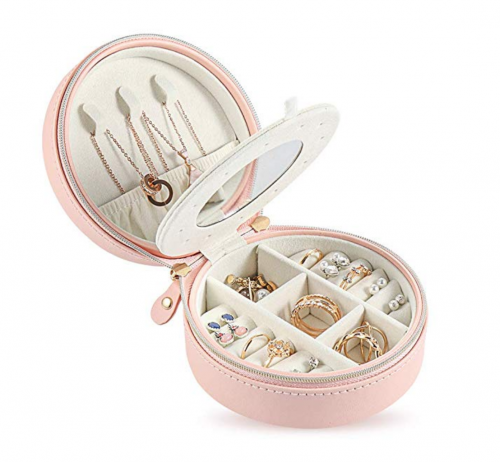 WFall Small Jewelry Box for Travel