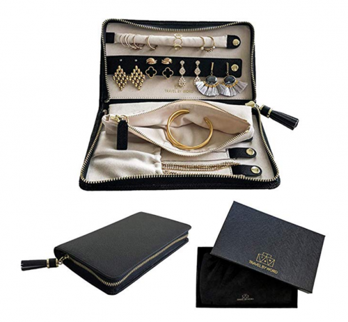 Travel by Word Large Travel Jewelry Case