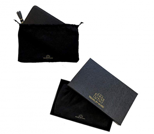 Travel by Word Large Travel Jewelry Case Pouch