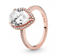 Pandora Jewelry Sparkling Teardrop Halo Ring