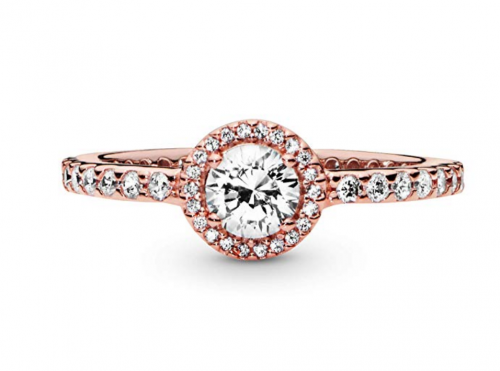 Pandora Jewelry Classic Sparkle Halo Ring Frontal View