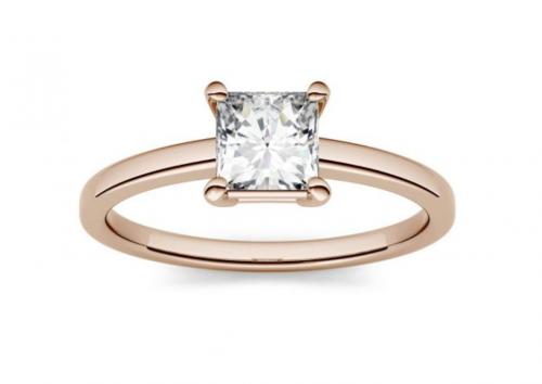 Charles & Colvard Moissanite Solitaire Engagement Ring