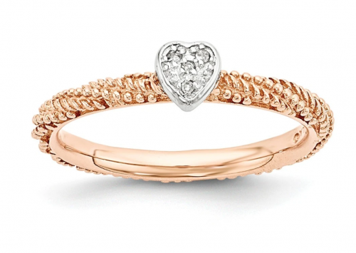 Black Bow Jewelry & Co. Rose Gold Heart Ring