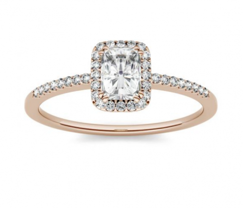 Charles & Colvard-Accents Engagement Ring