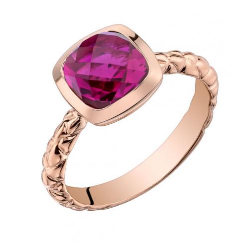 Ruby & Oscar Cushion Cut Ruby Engagement Ring