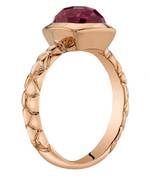 Ruby & Oscar Cushion Cut Ruby Engagement Ring Profile