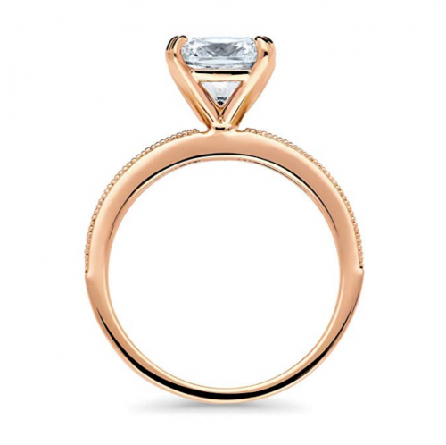 BERRICLE Rose Gold Engagement Ring Profile