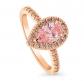 BERRICLE Pink Swarovski Engagement Ring